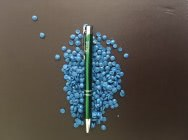 LDPE regranulat foliowy niebieski Odgazowany