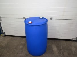 200l blue barrels