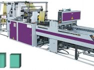 Two-layer, multi-track machine for the production of flat sacks and bags