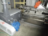 A new head with a sieve exchanger, bathtubs and a centrifugal drier, horizontal to prod. regranulates