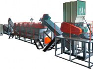 Line for grinding, washing and drying LDPE film