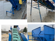 Crushing mill (in the set receiving auger and conveyor) + buffer tank