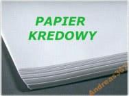 Papier kredowy - niezadrukowany, biały