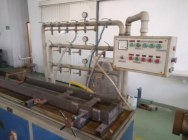Extrusion line for pipes and profiles