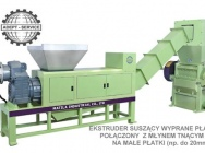 Complete recycling lines for plastics waste-grinding-washing, drying and granulating