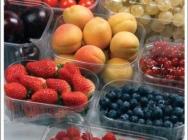 Pojemniki na owoce i warzywa (truskawki. Borówki, porzeczki)