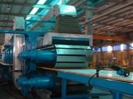 Linia do produkcji płyt warstwowych na bazie poliuretanu.