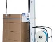 Maszyna bandująca do poziomego spinania towaru na paletach taśmą polipropylenową