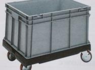 Wózki (platformy jezdne) pod pojemniki: od 400x300 do 1200x800 mm - Budeco