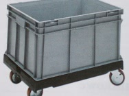 Trolleys (platforms) for containers: from 400x300 to 1200x800 mm - Budeco
