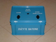 Storage boxes for used batteries and accumulators - Budeco