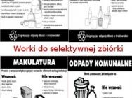 Worki do selektywnej zbiórki odpadów LDPE, worki komunalne, worki LDPE