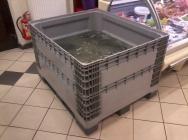 Aquarien, Palettenbehälter zur Fische aufbewahren, Wannenbehälter für Karpfen