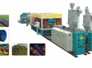 Extrusion line for corrugated…