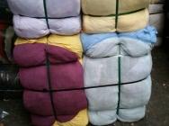 Surowiec na czyściwo - bawełna kolorowa bawełna biała