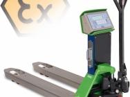 Wózek paletowy do pracy w strefie EX z systemem wagowym EX