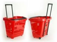 Kosze koszyki sklepowe na 2 kółkach