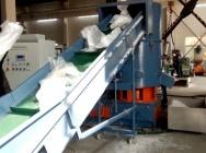Linia do regranulacji folii PE 400-500 kg/godz z aglomeratorem