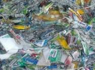 Tubki PE po produkcja, powlekane aluminium. Zbelowane lub przemiał