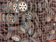 Kółka jezdne w odpadzie