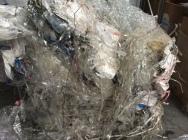 Odpad folii PP zadrukowana