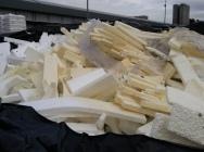 Styropian, ścinki tekstylne, materiały niebezpieczne