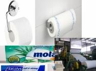 Linia do produkcji papieru toaletowego, ręczników i chusteczek papierowych z makulatury.