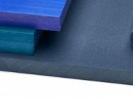 Blue plastic material…