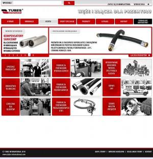 Tubes International wygląd strony