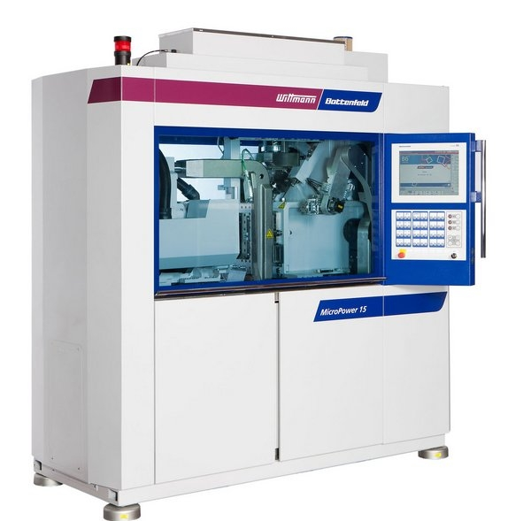 MicroPower 15/10 with clean room module for the production of venous clamps