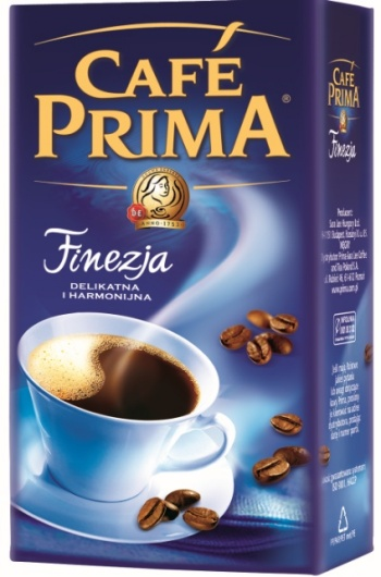 Nowe opakowanie kawy Prima Finezja