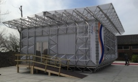 PC sheets used in sustainable ICEhouse building