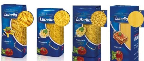 Nowe opakowania makaronów Lubella