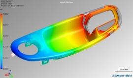 Symulacja wtrysku polimerów z narzędziem Simpoe-Mold