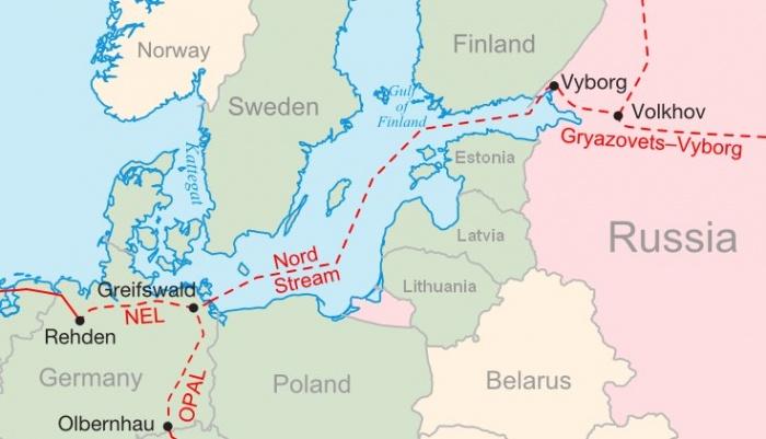 Przebieg Nord Stream 2