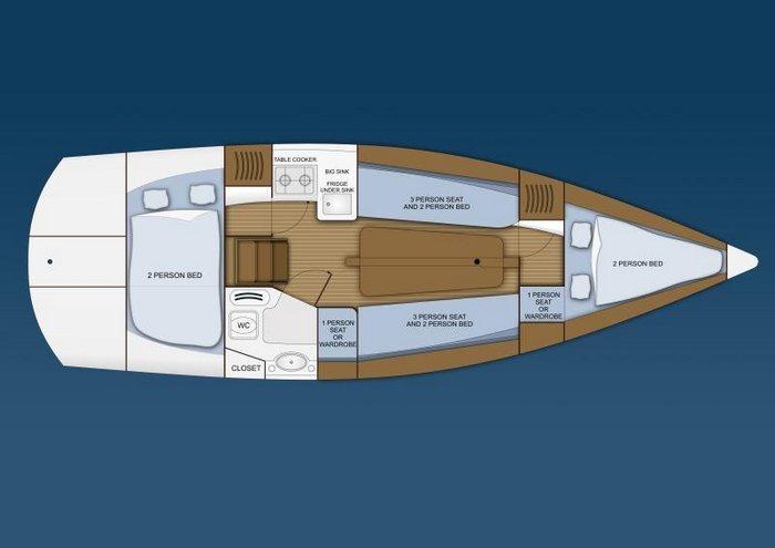 Mariner Yacht plan