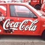 Folia Avery 800 na  samochodach promujących w Polsce Coca Colę