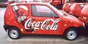 Folia Avery 800 na samochodzie Coca Coli