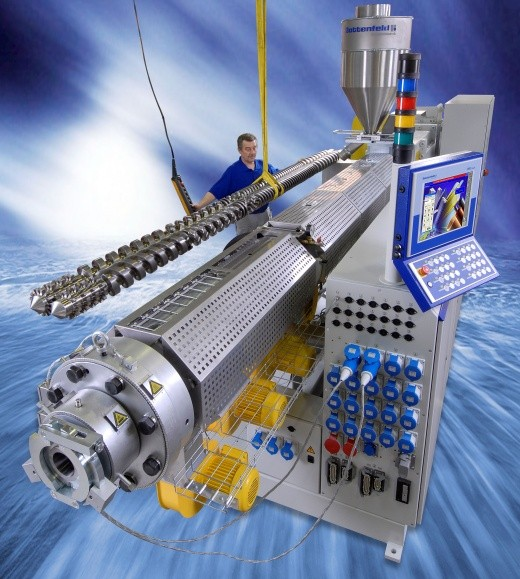 Battenfeld's latest high-speed extruder model, BEX 2-135 V plus dedicated to the russian market