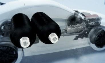 Novel materials solution for high-pressure composite tanks for hydrogen storage