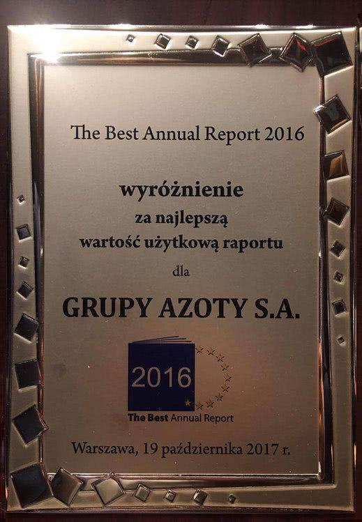 nagroda dla grupy azoty