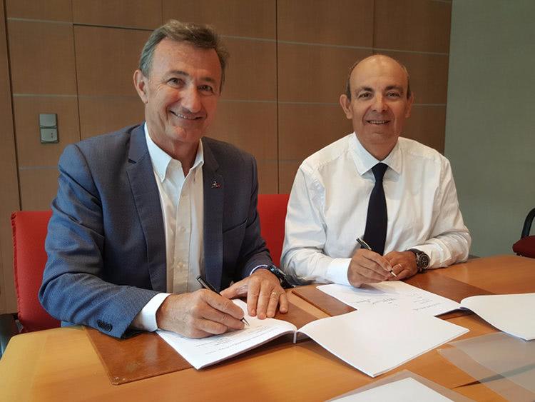 Eric Trappier, Prezes Zarządu i CEO w Dassault Aviation i Bernard Charlès, Wiceprezes Zarządu i CEO Dassault Systèmes
