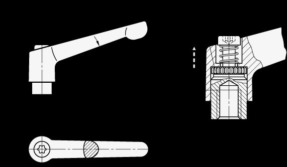 Budowa rękojeści nastawnej na przykładzie GN 300