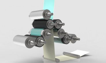 Coating unit for simultaneous double-sided siliconizing