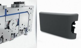Servo-electric hot runner systems support of ultra-light armrests
