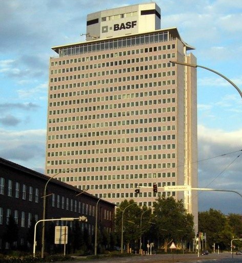 the headquarter of BASF in Ludwigshafen, Germany