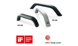 Trzy produkty Elesa+Ganter z nagrodami za wzornictwo przemysłowe