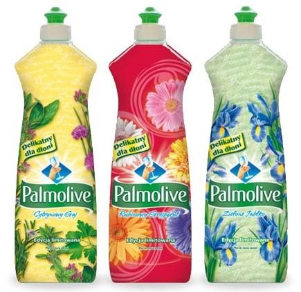 etykiety shrink sleeve na opakowaniach Colgate-Palmolive