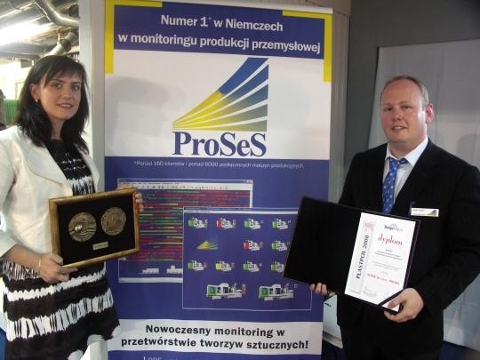 Przedstawiciele firm Proses i Dopak na targach Plastpol 2008