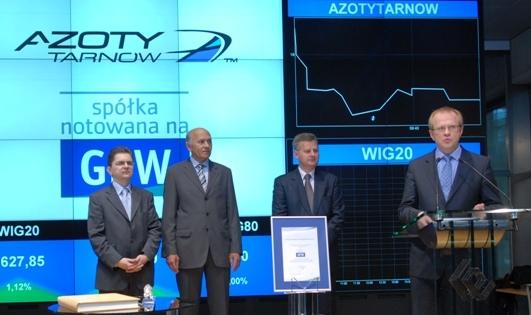 Azoty Tarnów zadebiutowały na giełdzie
